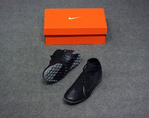 NIKE MERCURIAL SUPERFLY 7 ACADEMY TF UNDER THE RADAR - BLACK/METALLIC COOL GREY