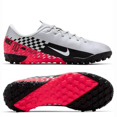 NIKE MERCURIAL VAPOR 13 ACADEMY TF NJR SPEED FREAK - CHROME/BLACK/RED ORBIT KIDS