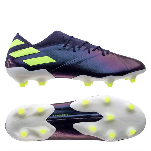 Adidas Nemeziz Messi 19.1 FG/AG - Tech Ink/Signal Green/Glory Purple