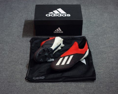 adidas X 18+ FG/AG Initiator - Core Black/Footwear White/Action Red