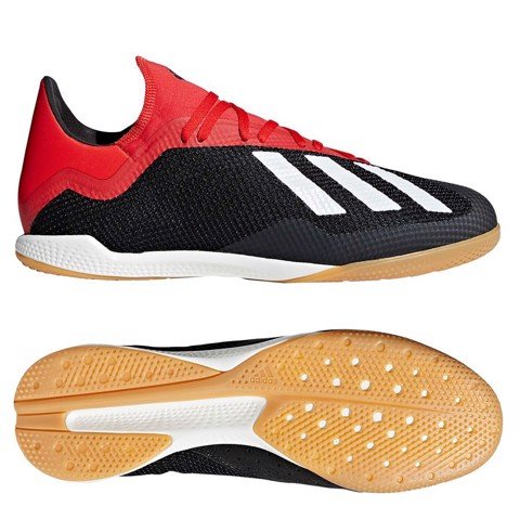 adidas X Tango 18.3 IN Initiator - Core Black/Off White/Action Red
