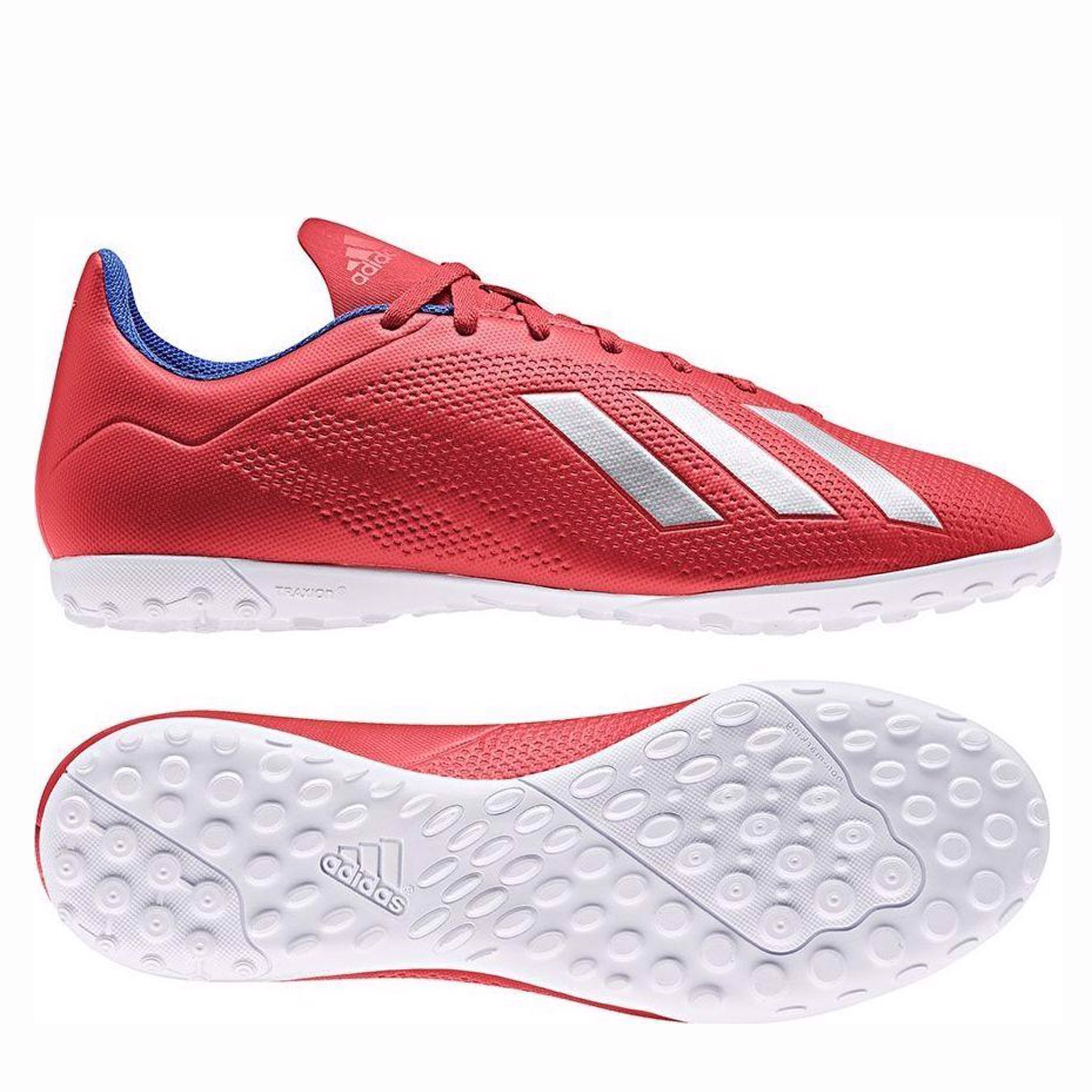 adidas X Tango 18.4 TF Exhibit - Action Red/Silver Metallic
