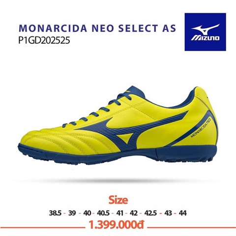 Mizuno Monarcida Neo Select AS TF Yellow/Blue