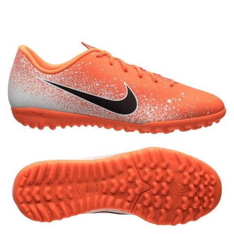 Nike Mercurial VaporX 12 Academy TF EUPHORIA - White/Orange/Black Kids