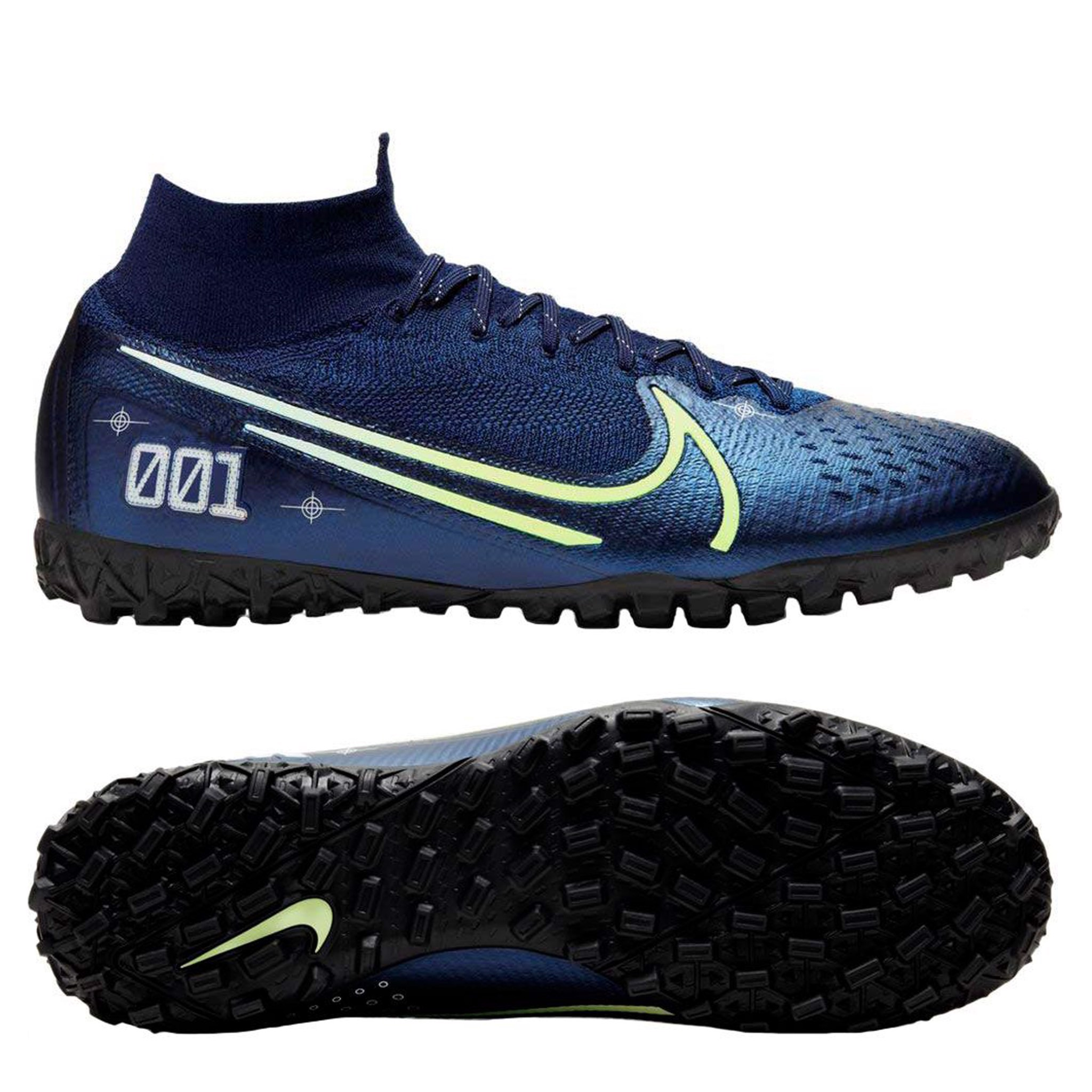Nike Mercurial Superfly 7 ELITE TF DREAM SPEED - Blue Void/Barely Volt/Black