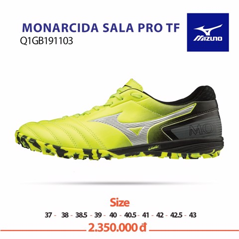MIZUNO MONARCIDA SALA PRO TF YELLOW/BLACK/WHITE