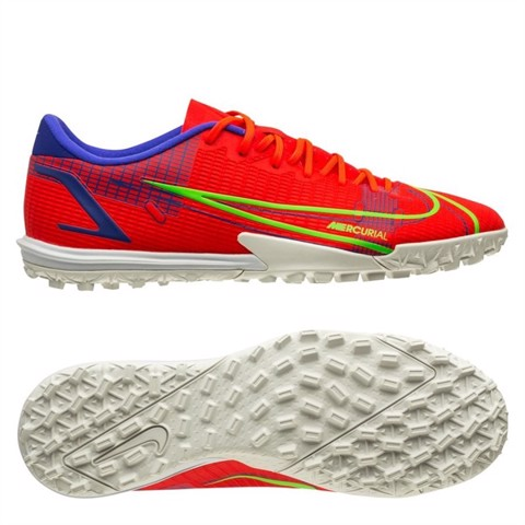 Nike Mercurial Vapor 14 Academy TF Spectrum - Bright Crimson/Metallic Silver