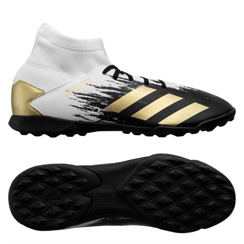 Adidas Predator 20.3 TF Inflight - Footwear White/Gold Metallic/Core Black Kids