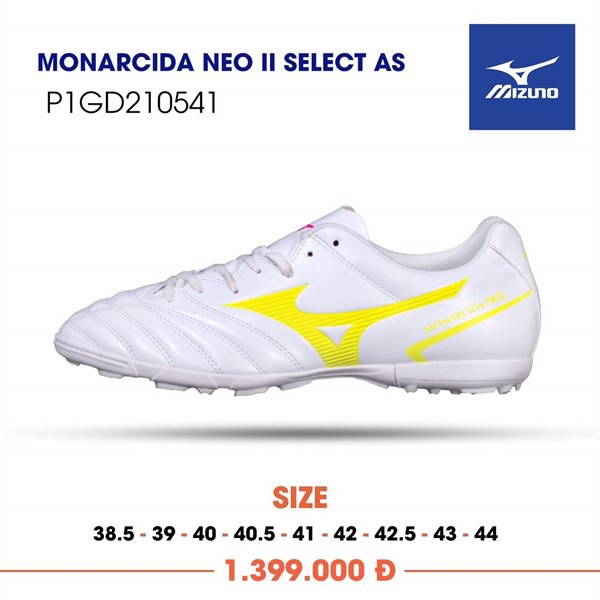 MIZUNO MONARCIDA NEO II SELECT AS TF WHITE/YELLOW