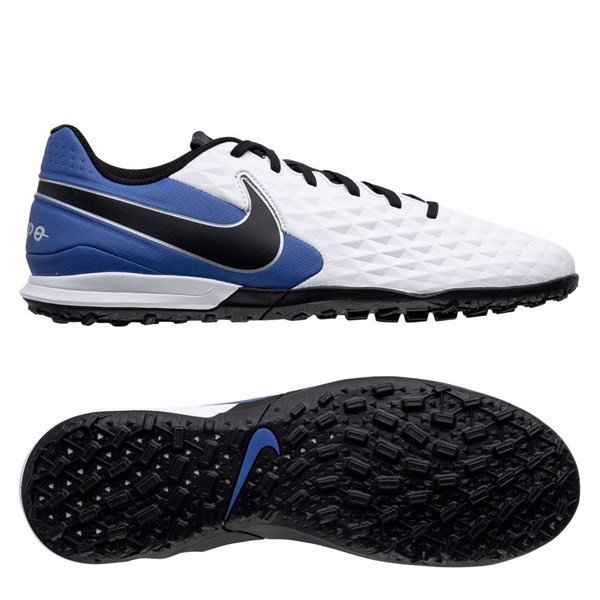 Nike Tiempo Legend 8 Academy TF Daybreak - White/Black/Hyper Royal/Metallic Silver