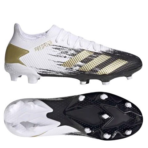 Adidas Predator 20.3 Low FG Inflight - Footwear White/Gold Metallic/Core Black