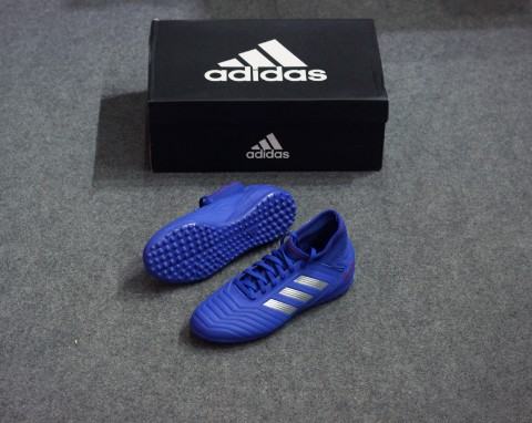 adidas Predator Tango 19.3 TF Exhibit - Bold Blue/Silver Metallic/Action Red Kids