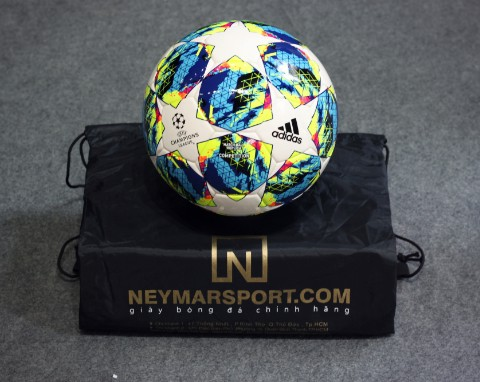 adidas Football Champions League 2020 Finale Competition - White/Bright Cyan/Solar Yellow