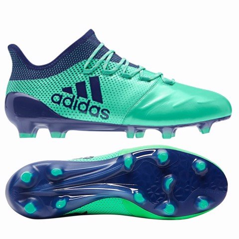 adidas X 17.1 FG LEATHER Deadly Strike - Aero Green/Unity Ink/Hi-Res Green