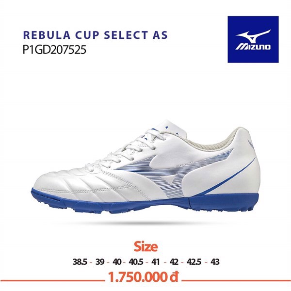 Mizuno Rebula Cup Select As TF - White/Blue