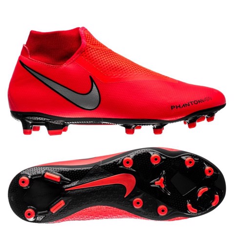 Nike Phantom Vision Academy DF MG Game Over - Bright Crimson/Metallic Silver
