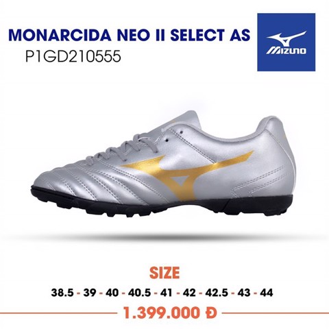 MIZUNO MONARCIDA NEO II SELECT AS TF SILVER/GOLD