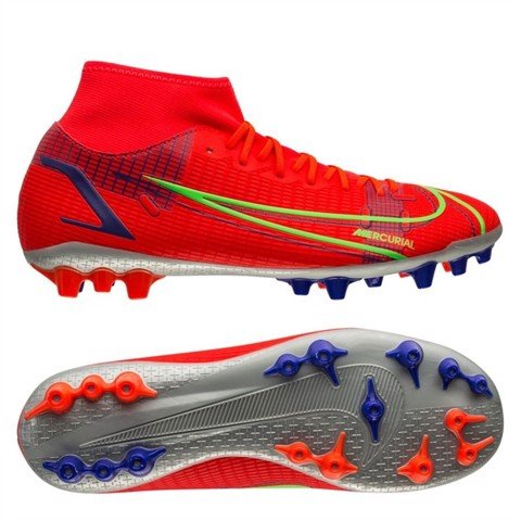 Nike Mercurial Superfly 8 Academy AG Spectrum - Bright Crimson/Metallic Silver