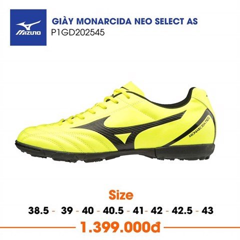 MIZUNO MONARCIDA NEO SELECT AS TF YELLOW/BLACK