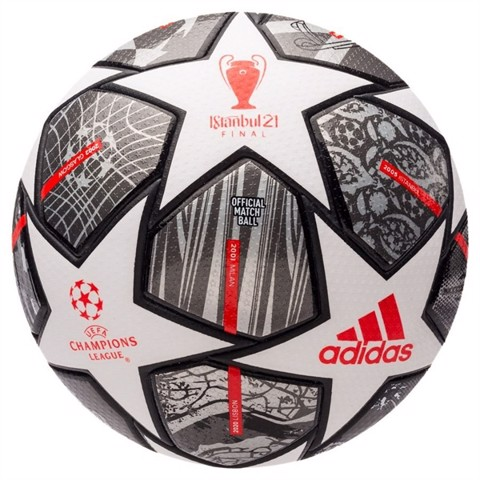 adidas Football Champions League Finale 2021 Match Ball 20Y - White/Iron Metal/Silver Metallic