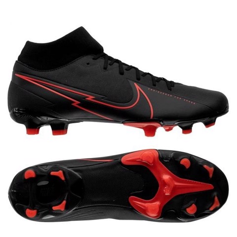 Nike Mercurial Superfly 7 Academy MG Black X Chile Red - Black/Chile Red/Dark Smoke Grey