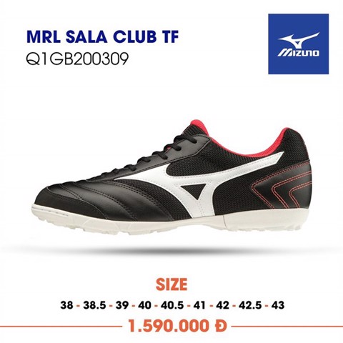 MIZUNO MORELIA SALA CLUB TF BLACK/WHITE/RED