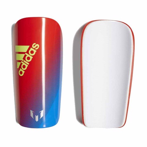 Adidas Lesto Messi 10 Shin Guards Bold Blue/Active Red/Silver Metallic