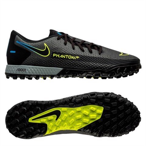 Nike Phantom GT Pro TF Black x Prism - Black/Cyber Yellow/Lite Photo Blue