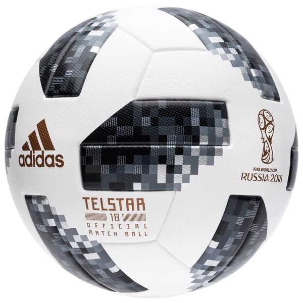 adidas Football World Cup 2018 Telstar 18 Match Ball - White/Black/Silver Metallic