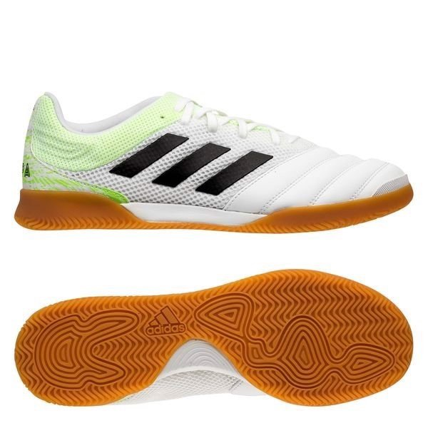 Adidas Copa 20.3 Sala IN Uniforia - Footwear White/Core Black/Signal Green