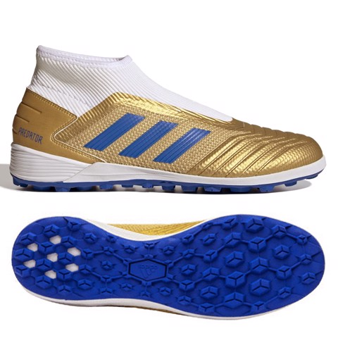 Adidas Predator 19.3 TF Laceless Input Code -Metallic Gold/Blue