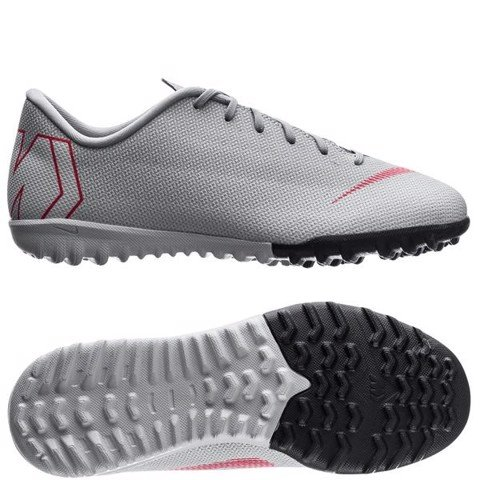 Nike Mercurial VaporX 12 Academy TF Kids Raised On Concrete - Wolf Grey/Light Crimson