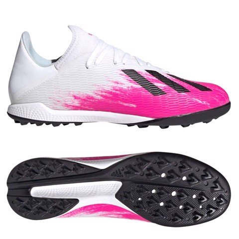 ADIDAS X 19.3 TF UNIFORIA - WHITE/BLACK/SHOCK PINK