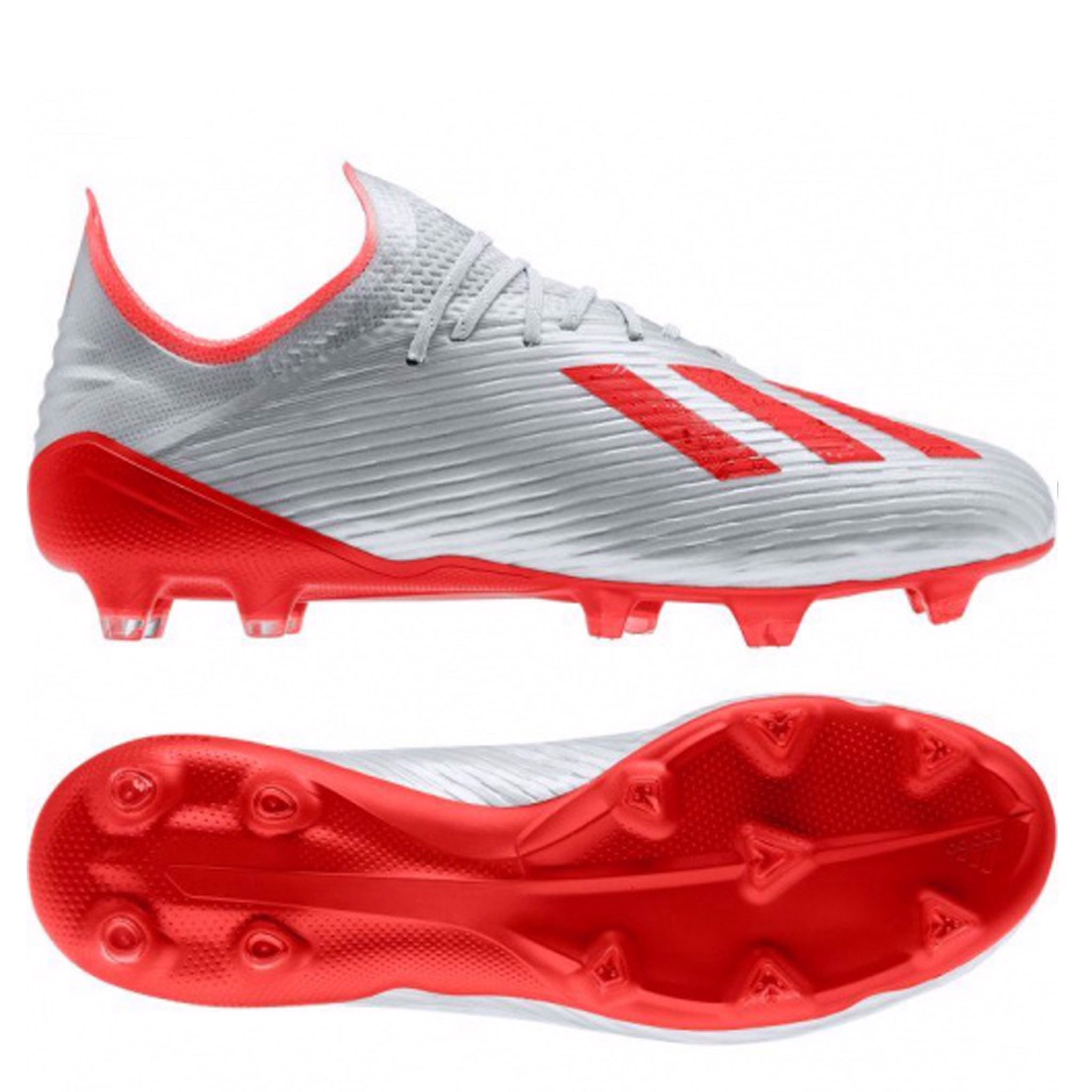 ADIDAS X 19.1 FG 302 REDIRECT - SILVER METALLIC/HIGH RISK RED/FOOTWEAR WHITE