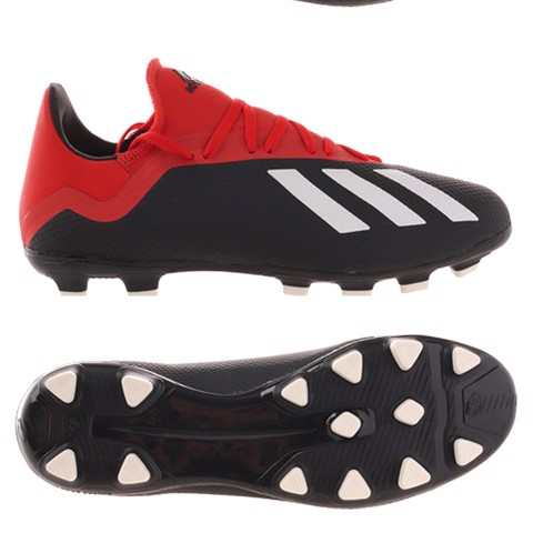 adidas Tango X 18.3 HG INITIATOR - Core Black/ Off White/ Action Red