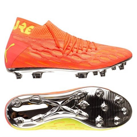 PUMA Future 5.1 Netfit FG/AG Rise - Energy Peach/Fizzy Yellow