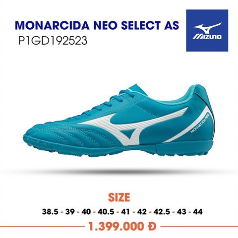 MIZUNO MONARCIDA NEO SELECT AS TF - Ball Blue/White