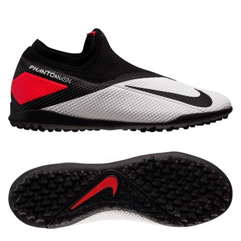 Nike Phantom Vision 2 Academy DF TF Player Inspired - White/Black/Laser Crimson