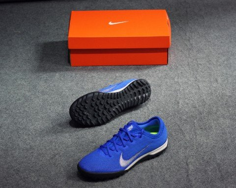 NIKE MERCURIAL VAPORX 12 PRO TF ALWAYS FORWARD - Racer Blue/Metallic Silver/Black
