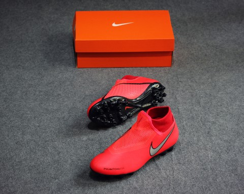 Nike Phantom Vision Academy DF AG Game Over - Bright Crimson/Metallic Silver