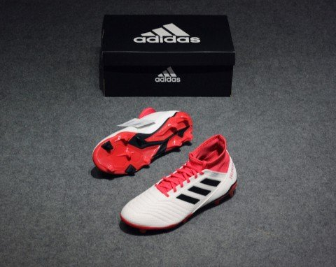 adidas Predator Tango 18.3 FG Cold Blooded - Footwear White/Core Black/Real Coral