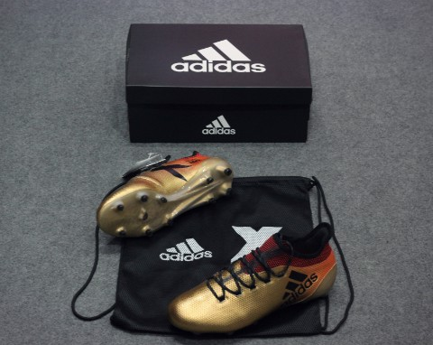 adidas X 17.1 FG Skystalker - Tactile Gold Metallic/Core Black/Solar Red