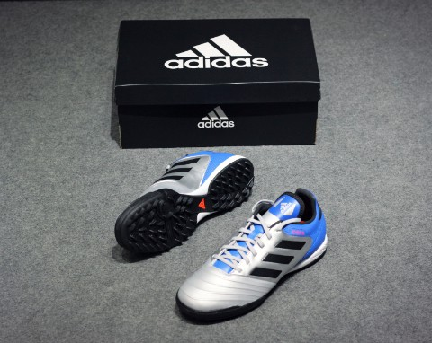 Adidas Copa Tango 18.3 TF- Metallic Silver/ Core Black/ Football Blue