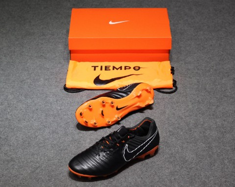 NIKE TIEMPO LEGENDX 7 ELITE FG FAST AF - BLACK/TOTAL ORANGE/WHITE