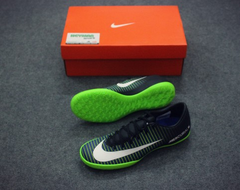 NIKE MERCURIAL VICTORY VI IC BLACK/ WHITE/ELECTRIC GREEN