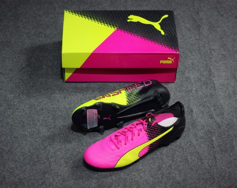 Puma EvoSPEED SL II Tricks FG pink glo/safety yellow/black