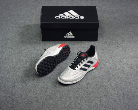 adidas Predator Tango 19.3 L TF 302 Redirect - Silver Metallic/Core Black/High Risk Red
