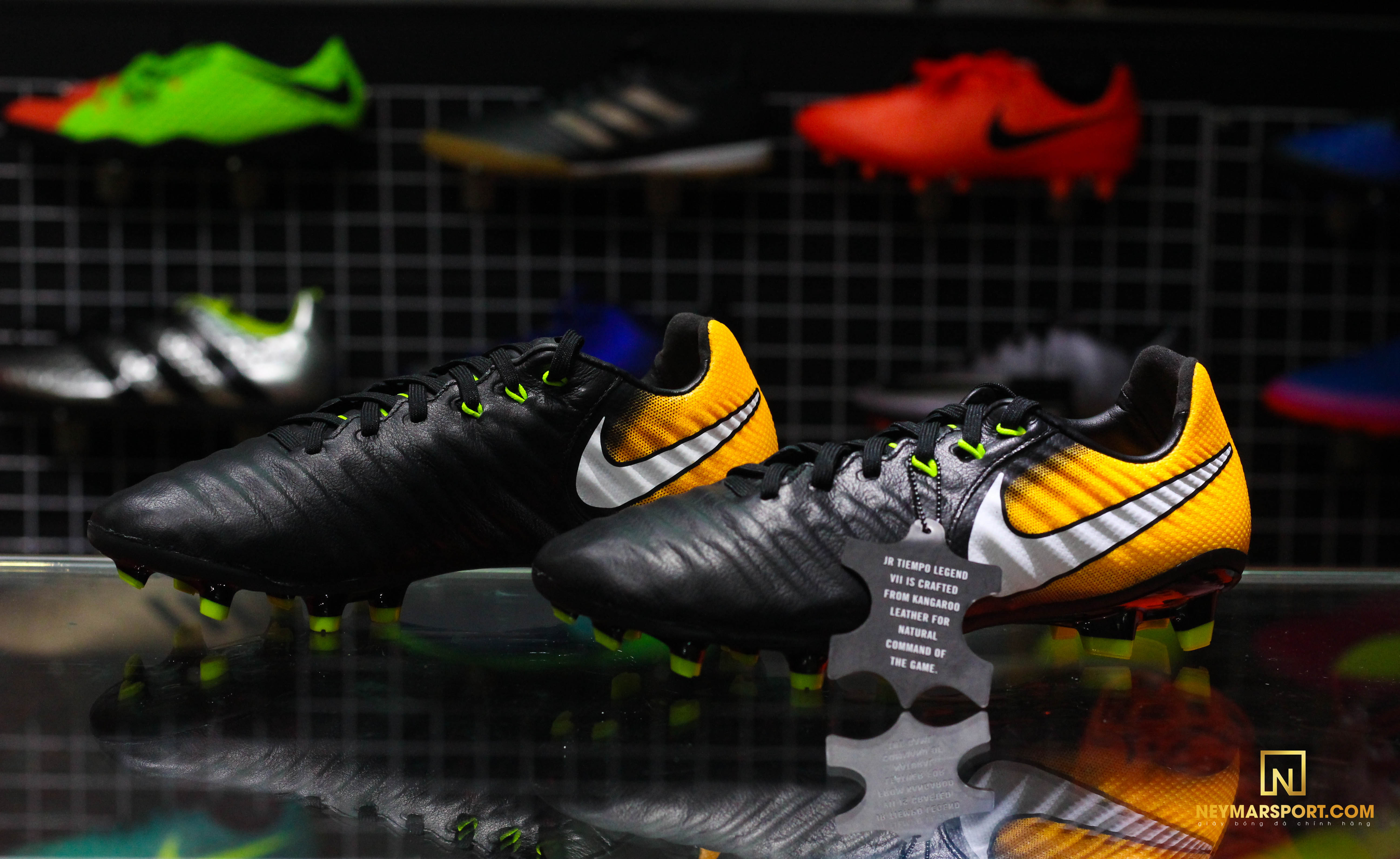 3409df37672b5 Nike Tiempo Legend 7 Jr FG Lock in. Let loose. - Black White Laser Orange