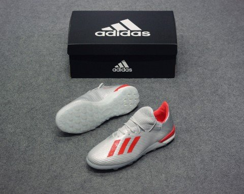 adidas X 19.1 TF 302 Redirect - Silver Metallic/Red/Footwear White