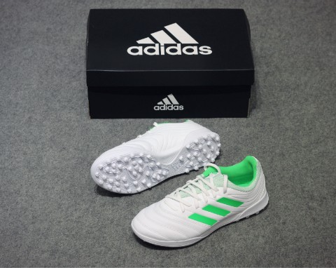 adidas Copa 19.3 TF Virtuso - Footwear White/Solar Lime